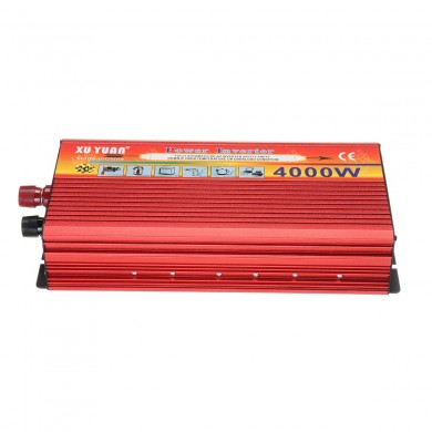 XUYUAN 4000W 8000W Peak Power Inverter Car Converter Sine Wave DC 12V to 110V 240V AC