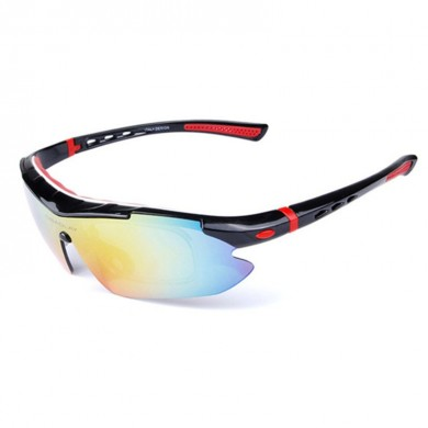 OBAOLAY SP0890 Polarized UV400 Cycling Unisex Sun Glassess  with 5 Interchangeable Lens Anti Glare