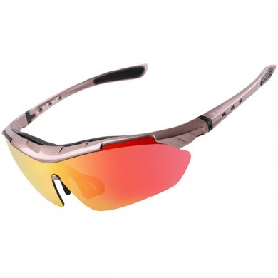 Wheel Up Lentes REVO PC Polarized Gafas de sol UV400 Impermeable A prueba de explosiones al aire libre Riding Gafas