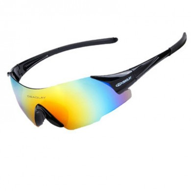 OBAOLAY SP0889 Ultralight PC Sun Glassess Sport Mountain Bike Bicycle Goggles No Frame Glasses