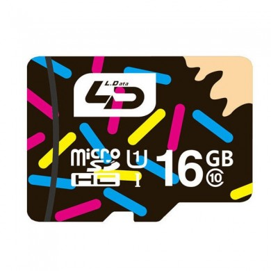 LD 16GB Class 10 High Speed ​​Data Storage Cartão de memória flash TF Card for Samsung Mobile Phone
