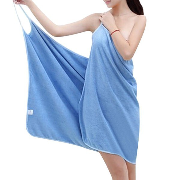 Honana BX-910 Soft Shoulder Straps  Lady Wearable Bath Towel Beach Cloth Beach Spa Bathrobes Bath Skirt
