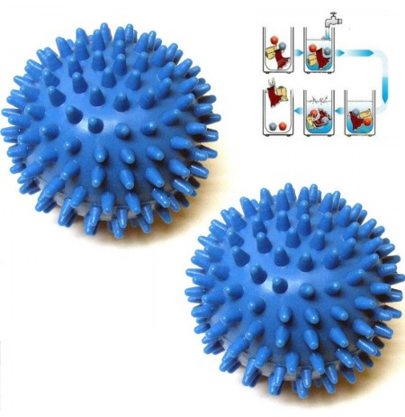2 Pcs Washing Laundry Dryer Ball No Chemicals Soften Cloth Drying Fabric Softener