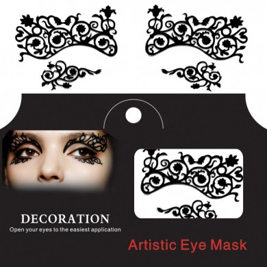 Eye Tatuaje Sticker Halloween Lace Squishy Eyes Liner Fretwork Mascarada Papercut Temporary Face