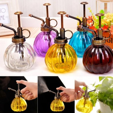 240ml Retro Hand Pressure Glass Spray Bottle Garden Plant Watering Can Tool