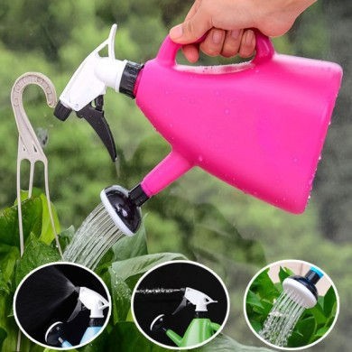 1200ml Dual-use Hand Pressure Watering Can Gardening Adjustable Handheld Sprinkling Can