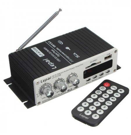 Lepai LP-A7 USB Mini Car Power Amplifier USB SD DVD CD FM MP3 Remote Controller