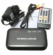 Full HD 1080P HD VGA Media Video Player RM RMVB MKV With Remote Controller Black