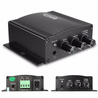 Amplificatore stereo amplificatore bass booster per la casa mp3 auto moto HiFi 12v 30w mini