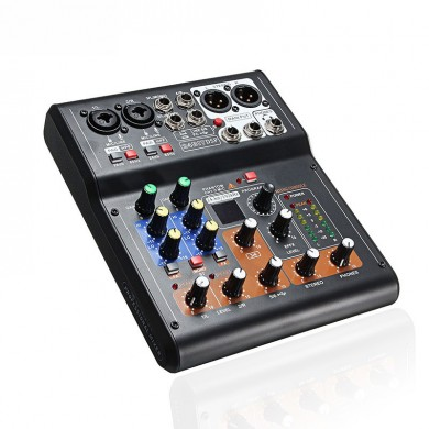 Mini 6 Channels Audio DJ Sound Mixer Mixing Console Amplifier with High Quality DSP 16 Types fo