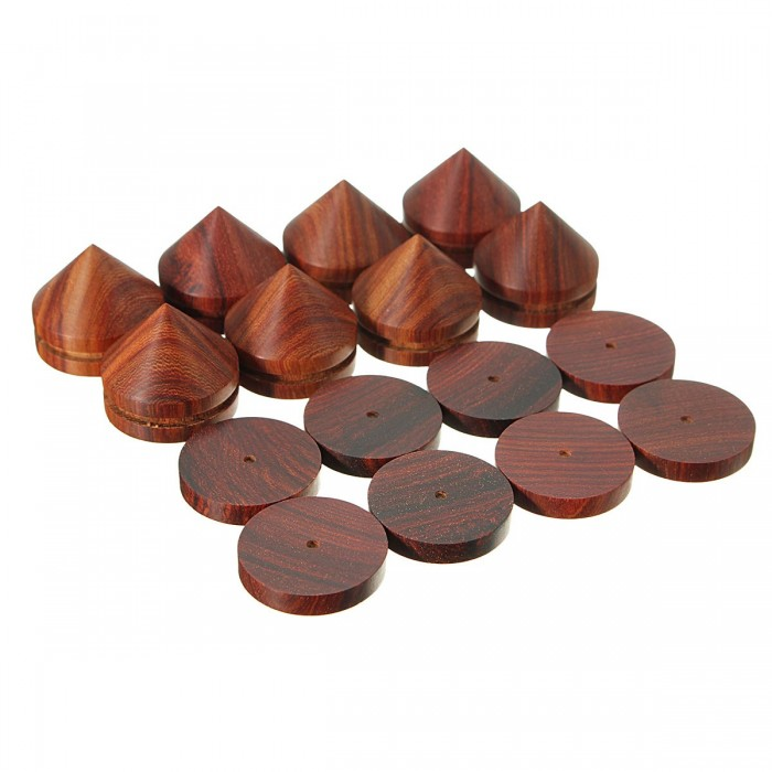 8 Pcs Rosewood Speaker Isolation Stand Feet para reproductor de CD Amplificador DAC Subwoofer Soundbar