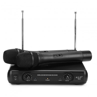J.I.Y V-2 Dual Wireless Handheld VHF Микрофон Karaoke KTV System