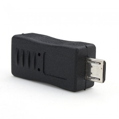 USB 2.0 Micro B Male to Mini-B Female 5-Pins Adapter Connector