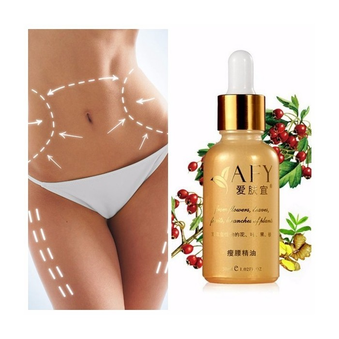 AFY Waist Belly Slimming Essential Oil Lose Weight Burning Fat Slim Oils 30ML