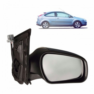 Door Wing Mirror Glass 04-08 Electric Heated Primed RH Side for Ford Focus MK2