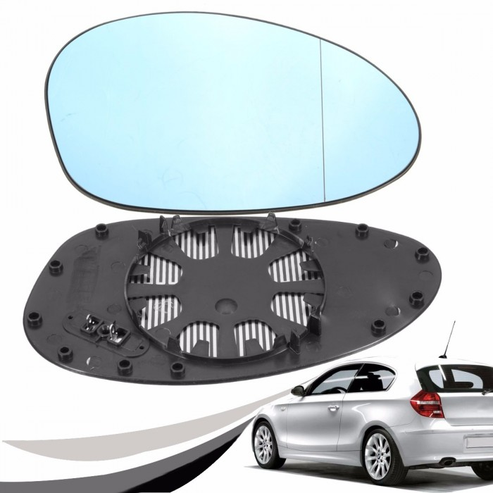 Left Wing Rearview Mirror Glass W// Heated For BMW 1 Series E81 E82 3 Series E90