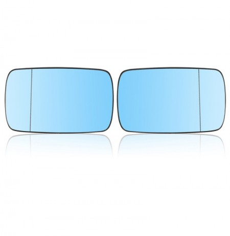 Car Left And Right Side Heated Blue Wing Mirror Glass For BMW E39 E46 19982005
