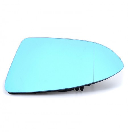 Car Door Wing Mirror Glass Tinted Blue Heated Left Side For VW Golf 7 GTI MK7 14-15
