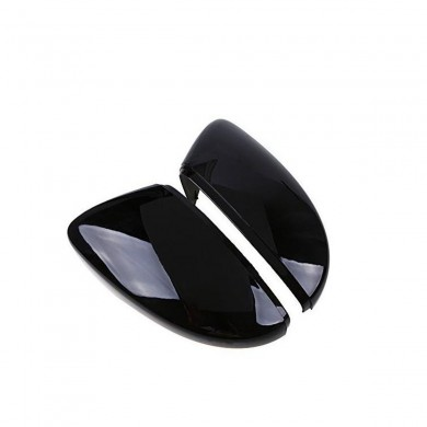 2 Pcs Rear View Wing Mirror Covers Caps For VW Beetle CC Eos Passat Jetta Scirocco