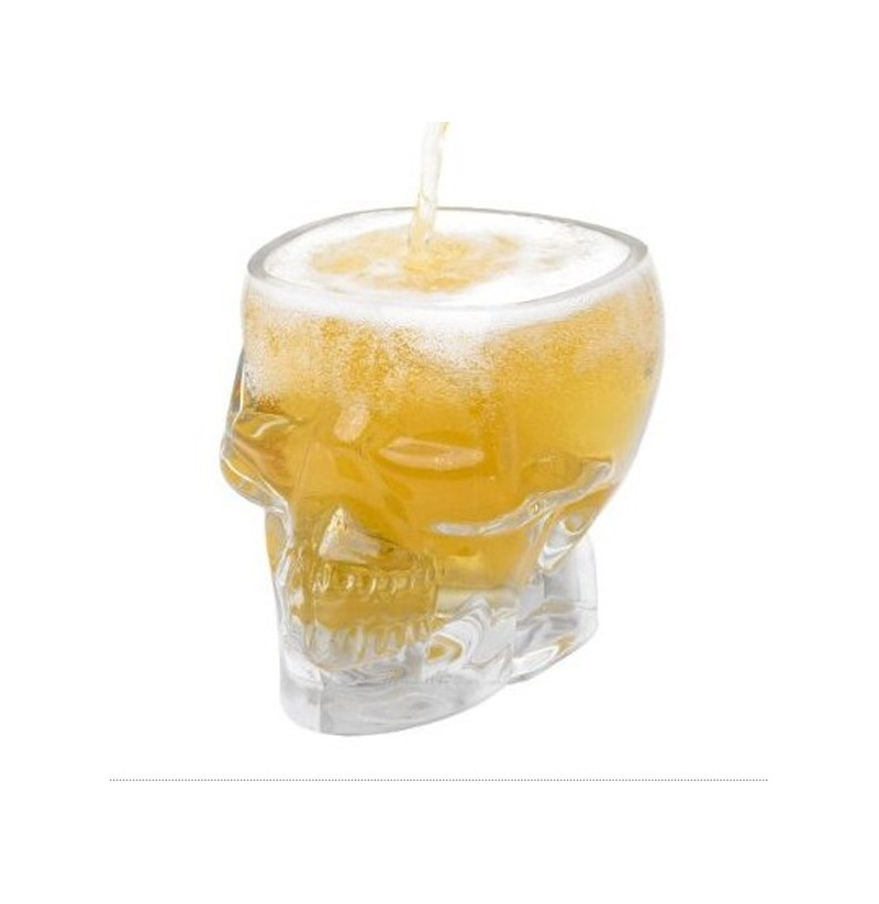 New Crystal Skull Head Vodka Whiskey Shot Glass Cup Drinking Ware for Home Bar фото