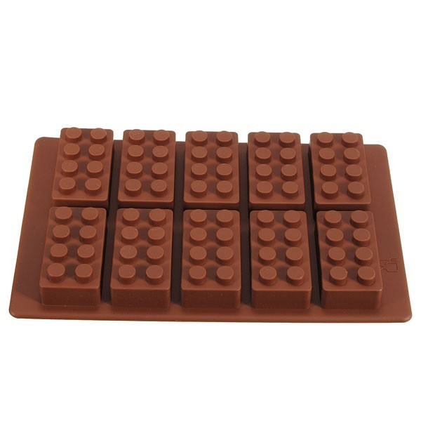 Brick Pattern Silicone Ice Cube Jelly Tray Maker Chocolate Mold