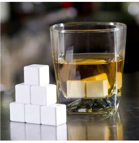 4 Pcs Ceramic Whisky Stones Ice Cube Glacier Whiskey Chilling Rocks