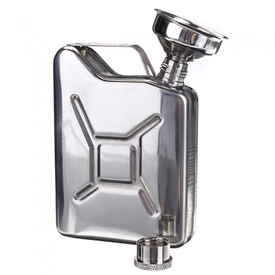 Portable 5oz Stainless Steel Mini Hip Flask Liquor Whisky Pocket Bottle With Funnel