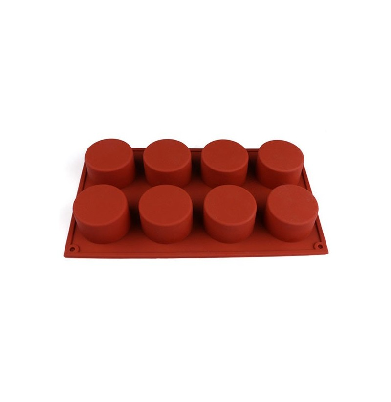 8 Holes Round Shape Silicone Cake Mold 3d Chocolate Candy Pudding Ice Fondant Pastry Mould