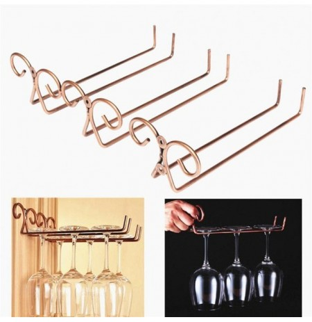 Wine Cup Wine Glass Holder Hanging Drinking Glasses Stemware Rack Drinks Holder Double Row