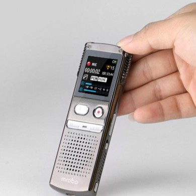 Mrobo M98 8G Mini Grabadora de voz de audio digital Reproductor de MP3 Dictaphone