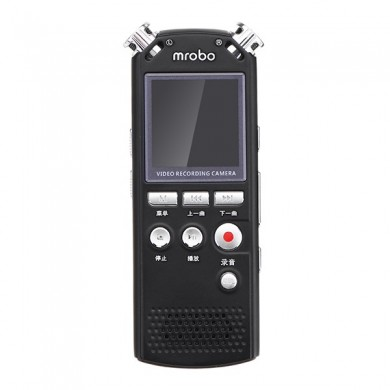 Mrobo M58 8GB Dual Microphone Noice Reduction Voice Recorder with 5MP Video Camera