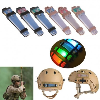 Caza Tactical FMA Helmet Safety Light LED parpadeando para Airsoft Bike Sports Driving