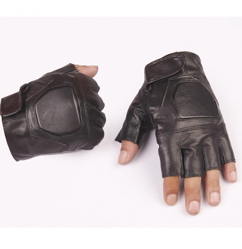 FAITH PRO Hunting Tactical Half Finger PU Leather Cooler