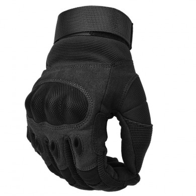 Hunting Tactical Outdoor Sports Full Finger PU Leather Anti-Cutting Gloves