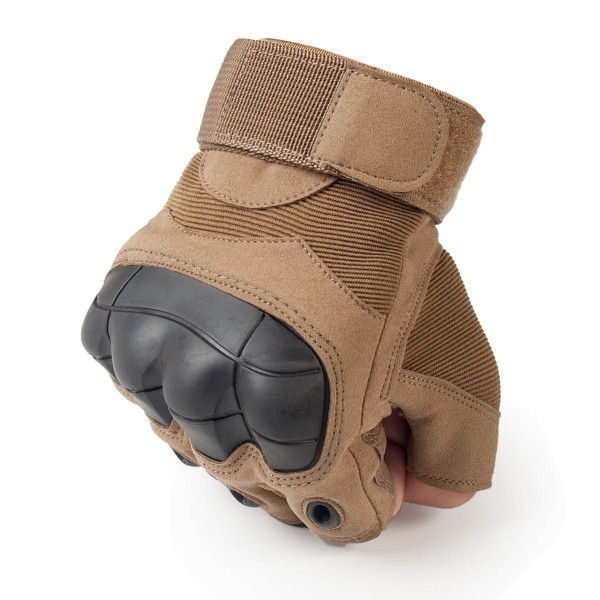 Tactical Guantes militar Fingerless Knuckle Rubber Fingerless Finger