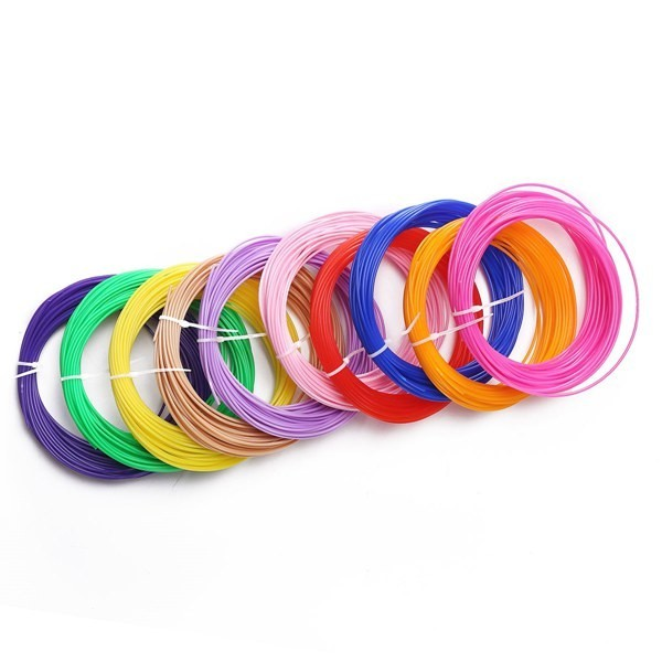1.75mm 20 Color Sample Pack PLA 3D Pen Filament Refills - 10M Per Colorful
