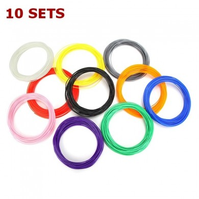 10 Sets x 10Pcs PLA Filament 50g For 1.75mm 3D Printing Pen