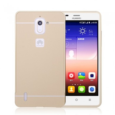 Ultra Thin Slim Aluminum Metal Bumper Frame With Sliding Back Case For Huawei Ascend G628