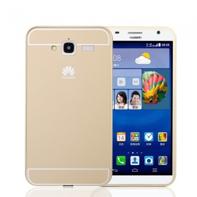 Ultra Thin Slim Aluminum Metal Bumper Frame with Sliding Back Case For Huawei Ascend GX1
