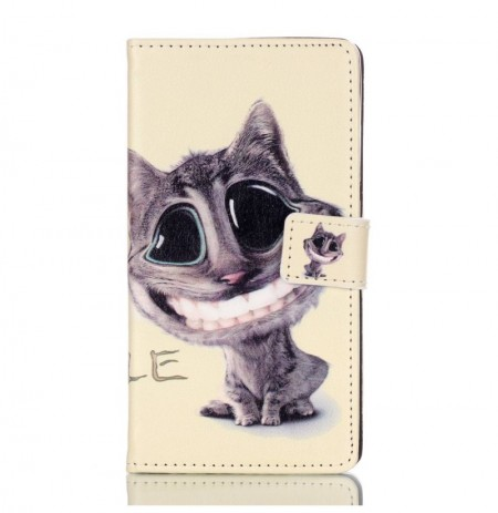 Colored Drawing Pattern PU Leather Flip Folding Back Case For Huawei P8 Lite