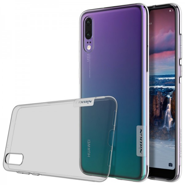 NILLKIN Anti-slip Transparent Ultra Thin Soft TPU Back Cover Protective Case for Huawei P20