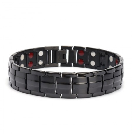 Punk Stainless Steel 4 in 1 Strong Magnetic Therapy Bracelet Healing Jewelry for Men