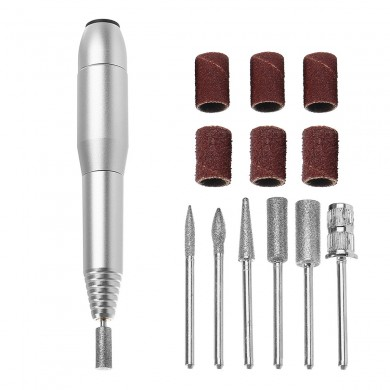 Silver 20000RPM Electric Nail Drill Machine Bits 100V 240V Manicure Tools Cuticle Polishing Grinding