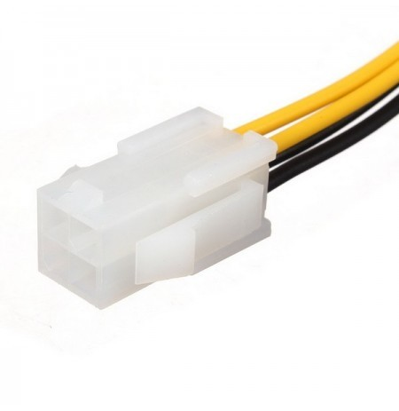 1X 4 pin to 4 Pin 12V ATX Power CPU Supply P4 Extension Cable Adapter Connector