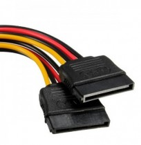SATA 15 Pins to 2x SATA Socket HDD Power Adapter Cable Lead Wire For Hard Drive