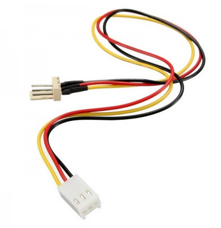 3 Pins Built-in Fan Extension Cord Power Adapter Cable Lead Wire For PC