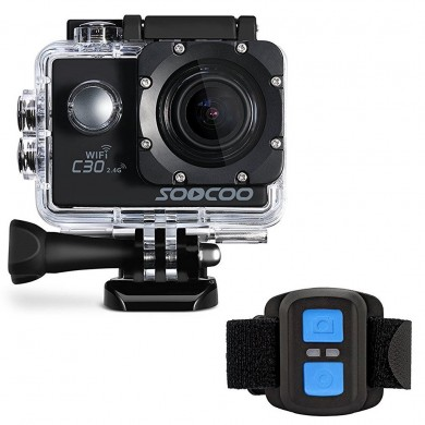 SOOCOO C30R Sports Action Camera Wifi 4K Gyro 2.0 LCD NTK96660 30M Waterproof Adjustable Angle