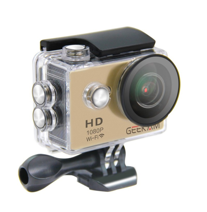 GEEKAM W9 30M Waterproof Action Sportscamera 4k WIFI 170 Degree Cam Camcorder (Color: Gold) фото