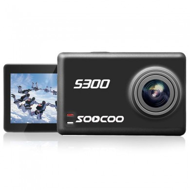 SOOCOO S300 Hi3559V100 IMX377 Sensor 2.35 Inch Touch LCD with WiFi Gryo Camera