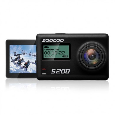 SOOCOO S200 2.45 Inch Toque LCD HD 4K NTK96660 IMX078 con WiFi Gryo Voice Control Externo MIC GPS